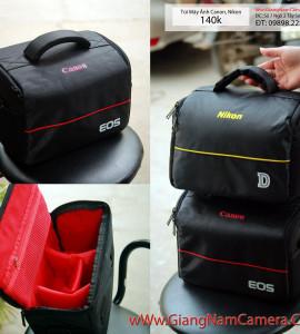 140k . Túi đựng máy ảnh Canon- Nikon ( Combo 1 body 2 len ) – Giá siêu hấp dẫn !