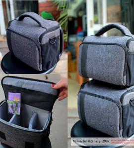 290k . Túi đựng máy ảnh thời trang ( 1 body 2 len ) – Giao hàng Toàn Quốc